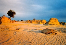 Sand filled gullies