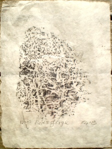 Dales Gorge frottage, 20/04/13, 12.00 am, graphite on rice paper