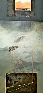 Igneous 2, 2004, 214x108 cm, oil and mixed media on canvas from series titled An Archaeology of Landscape