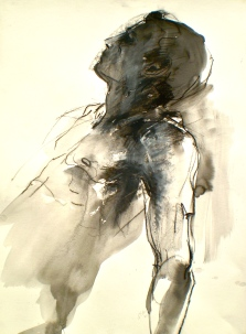 Portrait Life Drawing of male model