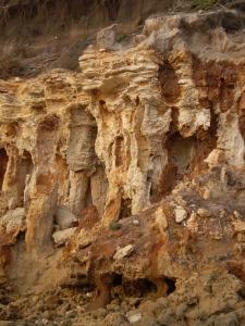 Point Roadknight columns erosion.