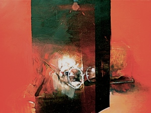 Momento Mori 2, 2006, 52x70 cm, oil on gessoed paper, from Eye and Site 2