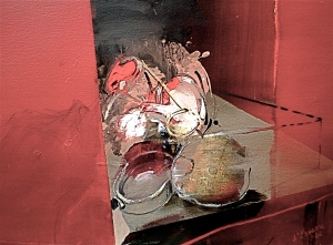 Momento Mori 3, 2006, 52x70 cm, oil on gessoed paper, from Eye and Site 2