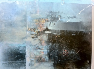 2nd Commission, unfinished early stage, Untitled 2, 2013, oil on canvas on board.