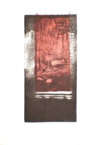 Landscape artist's proof etching and chine - colle for...and the Ocean Rusted 4