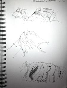 Flinders Ranges sketch 1
