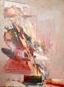 Art landscape painting titled Golden Spike 2, 2012,  oil on canvas 60x45 cm
