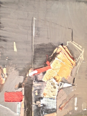 The Golden Spike 5, 2013 gouache and collage, 60x45 cm