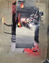 'Triple Vision', 2011, gouache, 72x53 cm