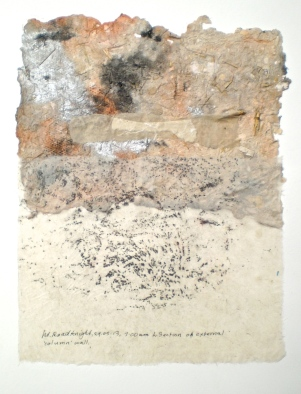 Petrified Forest 1, 2014, frottage and handmade paper, 60x40 cm