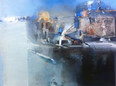 Tidal Breach, 2011, oil on canvas, 90x120 cm