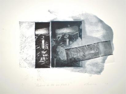 Return to the Sea Floor 1, 2010, intaglio and wash 20x26 cm print, 35x50 cm paper