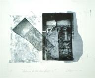 Return to the Sea Floor 2, 2010, intaglio and wash 16x20 print, 35x50 cm paper