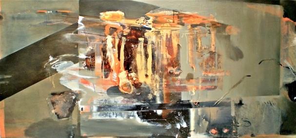 Point Roadknight Porta, 2009, loil painting on board, 90x240 cm