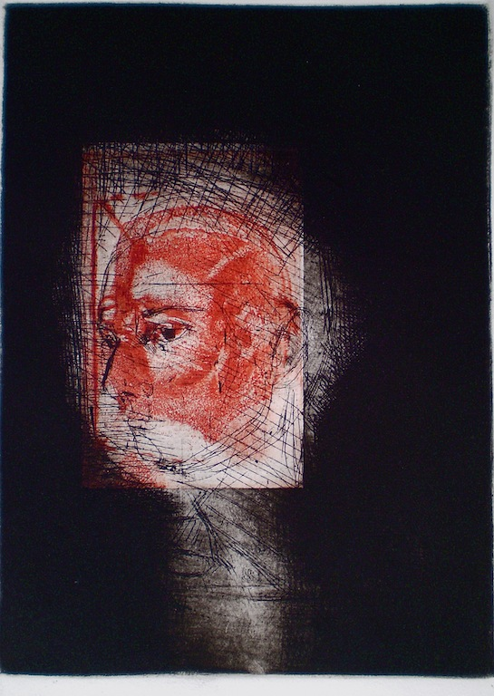 In Focus, 1/1, 2009,  intaglio and drypoint