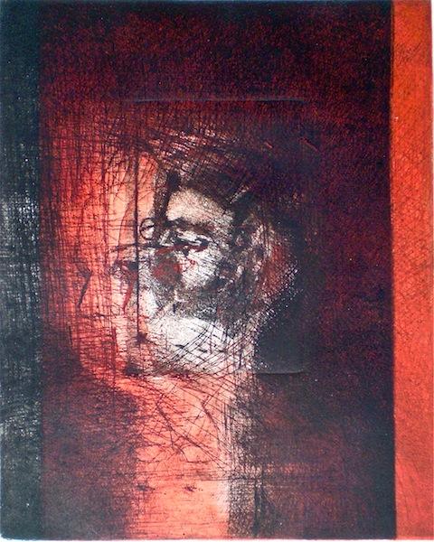 Imago, 1/1, 2009, 25x21 cm print, 37x28 cm paper, drypoint and intaglio