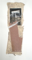 Receding Tide, 2010, intaglio and collage 40x16 cm print, 50x35 cm paper