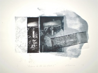Return to the Sea Floor 1, 2010, intaglio and wash 20x26 cm print, 35x50 cm paper