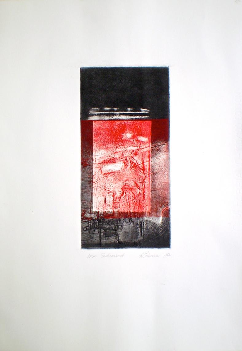 Iron Sediment, 2014, 25x19 cm print, 50x35 cm paper, intaglio