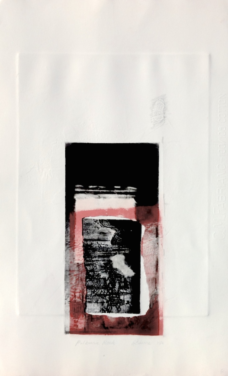 Pilbara Rock, 2014, 50x35 cm, intaglio, collage and emboss