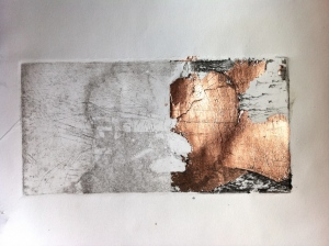 Etching with copper leaf proof