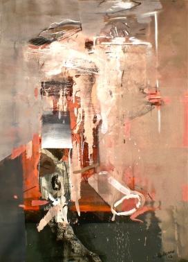 Columns that Crumble, 2012, gouache and pastel, 73x55 cm