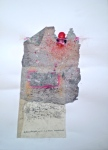 The Sun Rises, 2014, 60x40 cm, frottage, handmade paper and pastel