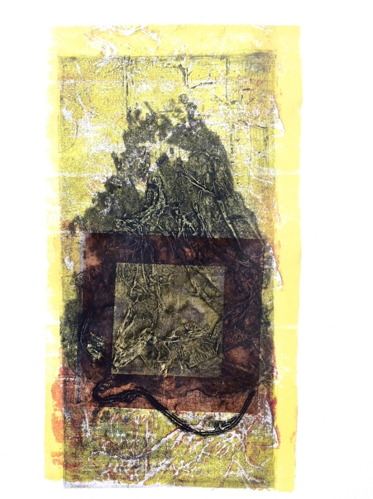 Mungo, 2015, collagraph and chine colle