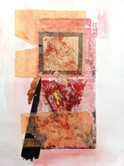 Untitled 2, collagraph and collage
