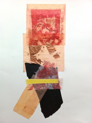Untitled 1, collagraph and collage