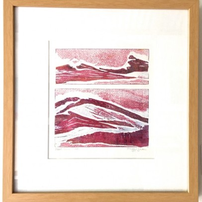 Heatwave, 2014, collagraph with viscosity printing