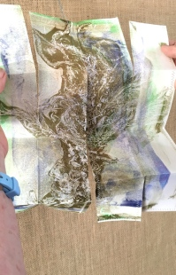 Opened gelatine print
