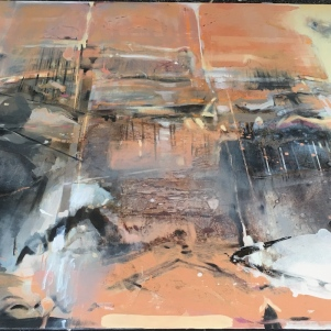 Journey of Rock (unfinished), 180x240 cm