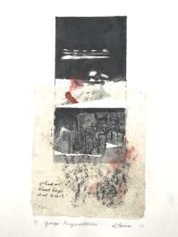 Gorge Fragmentation, 2014, intaglio and frottage, 50x35 cm