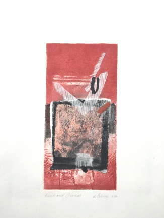 Rust and Ocean, 2014, intaglio, chine-colle and collage