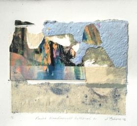 Point Roadknight Littoral 1, 2016, collage, 30x40 cm