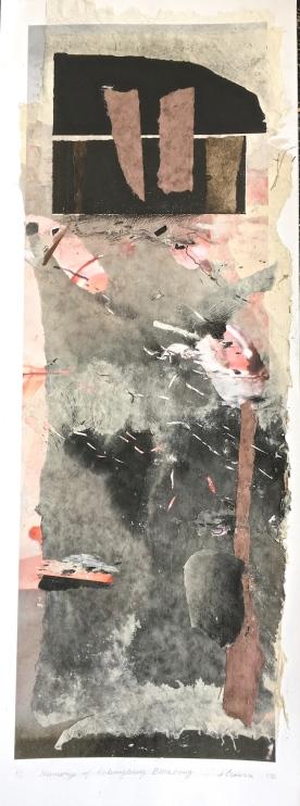 Memory of Anbangbang Billabong, 2016, collage, 75x25 cm