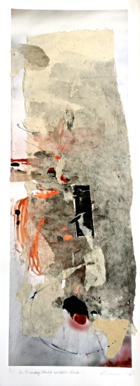 Preliminary Sketch at Ubirr Rock, 2016, collage, 75x25 cm