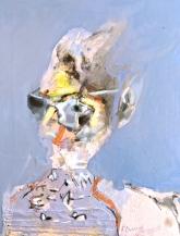'Desert Poet', 2016, oil on gessoed board, 75 x56 cm