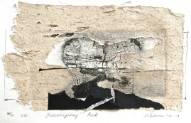 Interrogating Rock, 10/10, v.e., 2017, intaglio and handmade paper