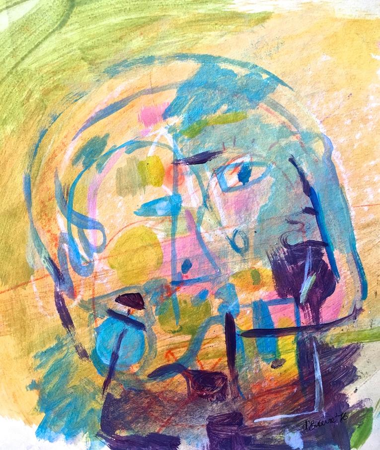 Embrace, 1976, texta, 20x14 cm