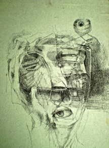 Identity 1, 1975, pen and ink, 24x18 cm
